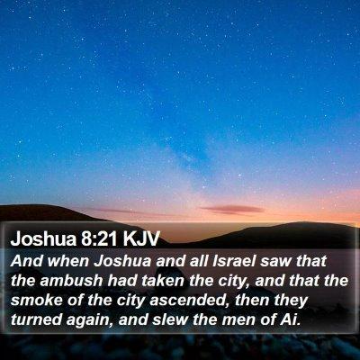 Joshua 8:21 KJV Bible Verse Image