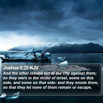 Joshua 8:22 KJV Bible Verse Image