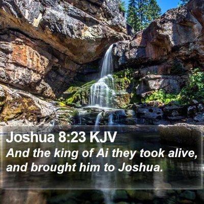 Joshua 8:23 KJV Bible Verse Image