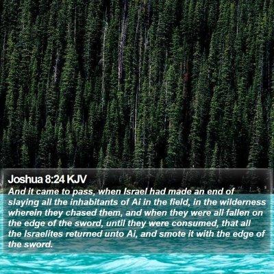 Joshua 8:24 KJV Bible Verse Image