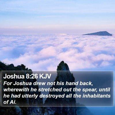 Joshua 8:26 KJV Bible Verse Image