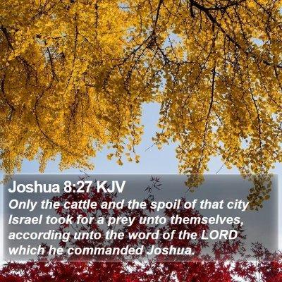 Joshua 8:27 KJV Bible Verse Image