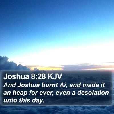 Joshua 8:28 KJV Bible Verse Image