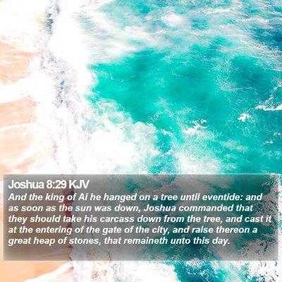 Joshua 8:29 KJV Bible Verse Image