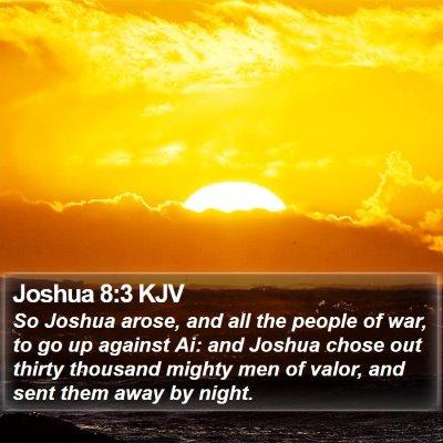 Joshua 8:3 KJV Bible Verse Image