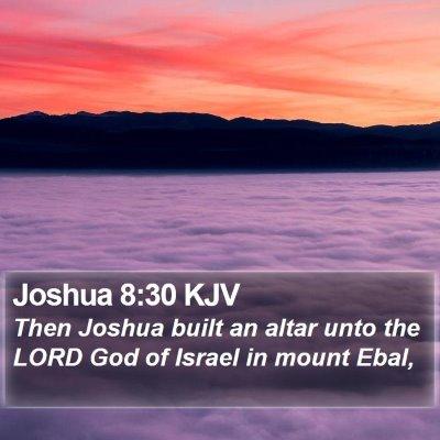 Joshua 8:30 KJV Bible Verse Image
