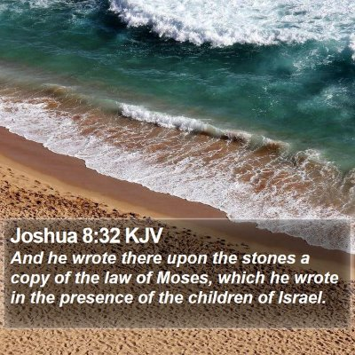 Joshua 8:32 KJV Bible Verse Image