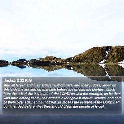 Joshua 8:33 KJV Bible Verse Image