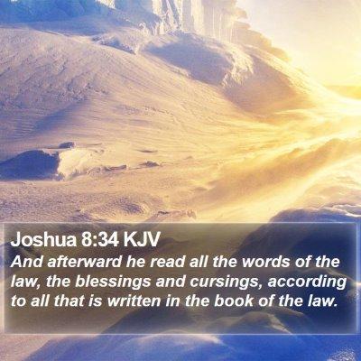 Joshua 8:34 KJV Bible Verse Image