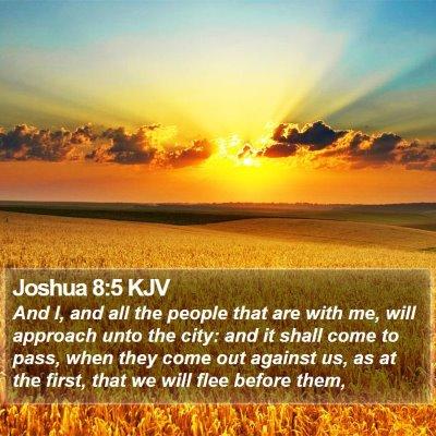 Joshua 8:5 KJV Bible Verse Image