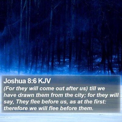 Joshua 8:6 KJV Bible Verse Image