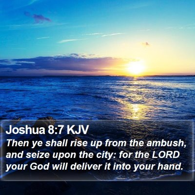 Joshua 8:7 KJV Bible Verse Image