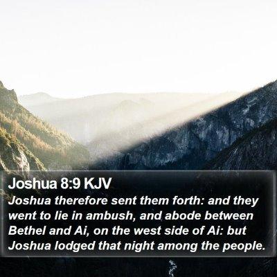 Joshua 8:9 KJV Bible Verse Image