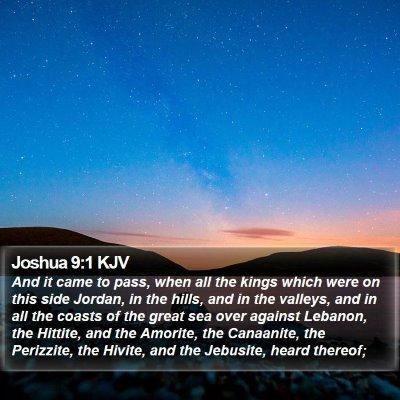 Joshua 9:1 KJV Bible Verse Image