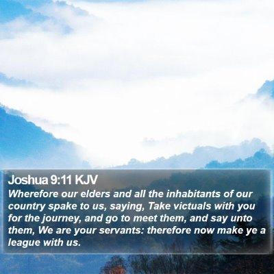 Joshua 9:11 KJV Bible Verse Image