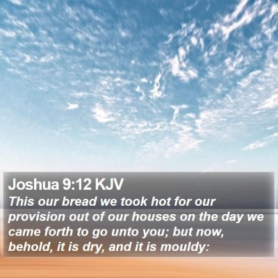 Joshua 9:12 KJV Bible Verse Image