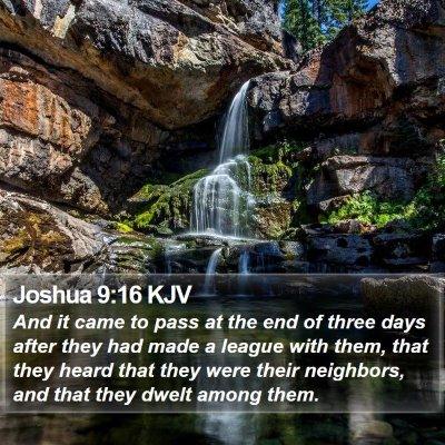 Joshua 9:16 KJV Bible Verse Image