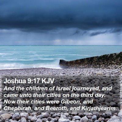 Joshua 9:17 KJV Bible Verse Image