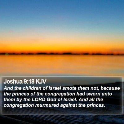 Joshua 9:18 KJV Bible Verse Image