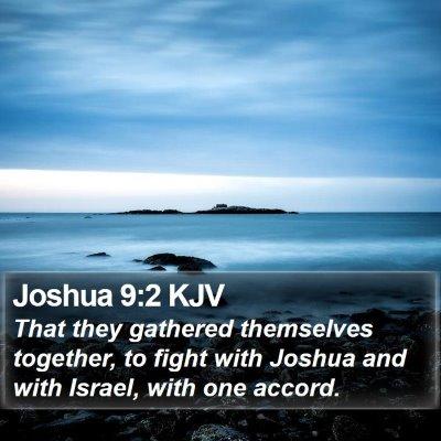 Joshua 9:2 KJV Bible Verse Image