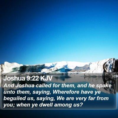Joshua 9:22 KJV Bible Verse Image
