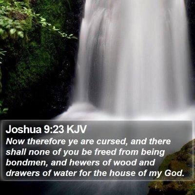 Joshua 9:23 KJV Bible Verse Image