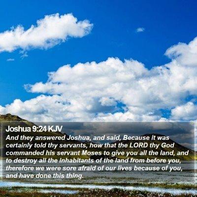 Joshua 9:24 KJV Bible Verse Image