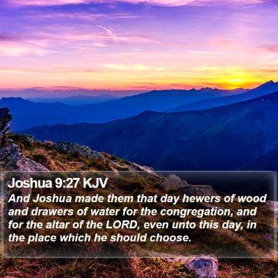 Joshua 9:27 KJV Bible Verse Image