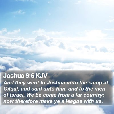 Joshua 9:6 KJV Bible Verse Image
