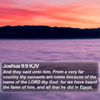 Joshua 9:9 KJV Bible Verse Image