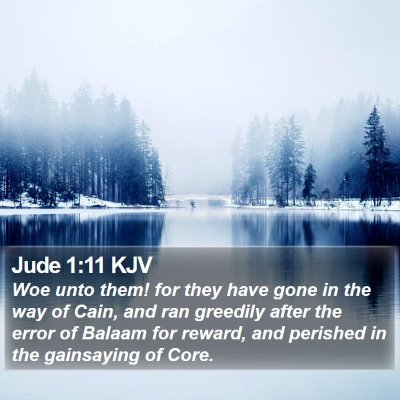 Jude 1:11 KJV Bible Verse Image