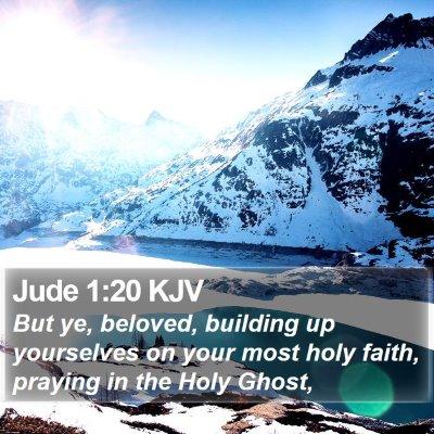 Jude 1:20 KJV Bible Verse Image