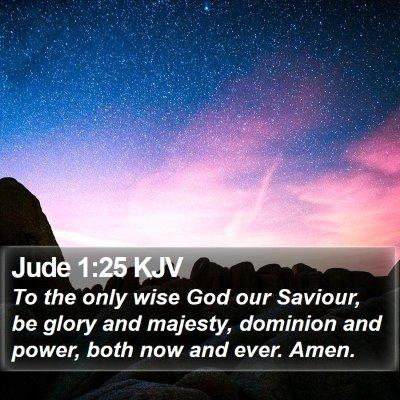 Jude 1:25 KJV Bible Verse Image
