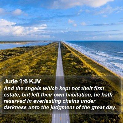 Jude 1:6 KJV Bible Verse Image