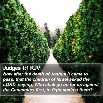 Judges 1:1 KJV Bible Verse Image