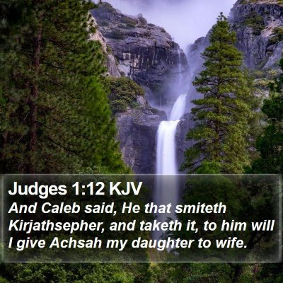 Judges 1:12 KJV Bible Verse Image