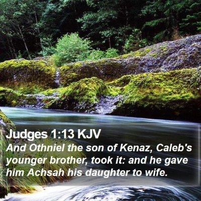 Judges 1:13 KJV Bible Verse Image
