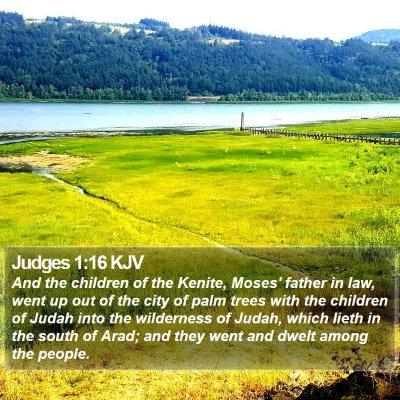 Judges 1:16 KJV Bible Verse Image