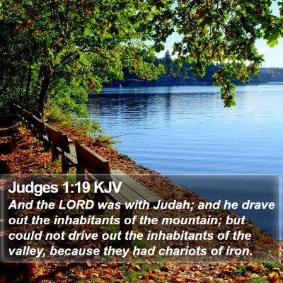 Judges 1:19 KJV Bible Verse Image