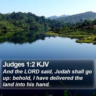 Judges 1:2 KJV Bible Verse Image