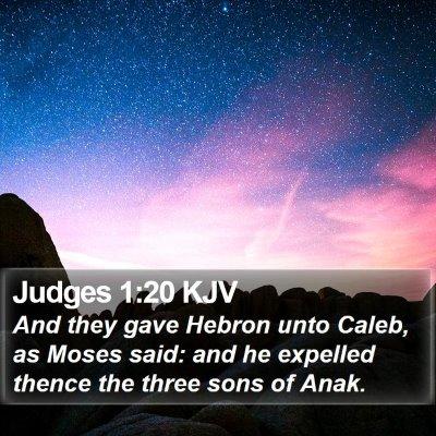 Judges 1:20 KJV Bible Verse Image