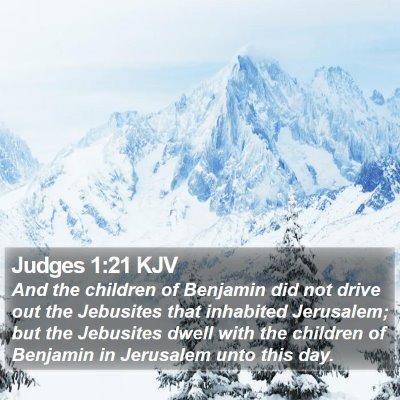 Judges 1:21 KJV Bible Verse Image
