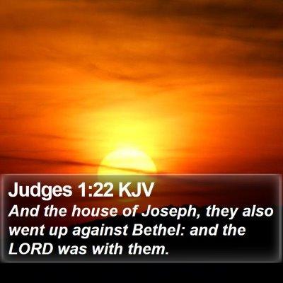 Judges 1:22 KJV Bible Verse Image