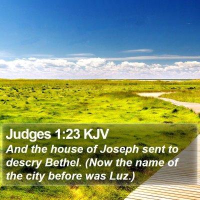 Judges 1:23 KJV Bible Verse Image