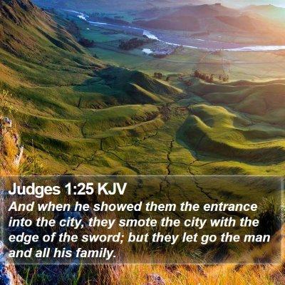 Judges 1:25 KJV Bible Verse Image