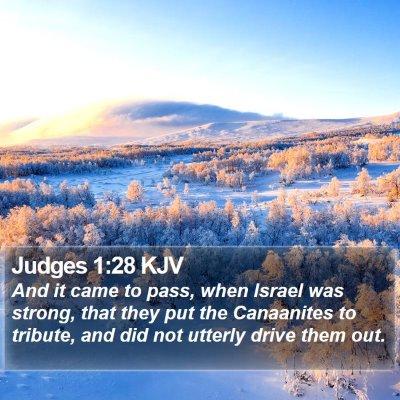 Judges 1:28 KJV Bible Verse Image