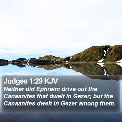 Judges 1:29 KJV Bible Verse Image