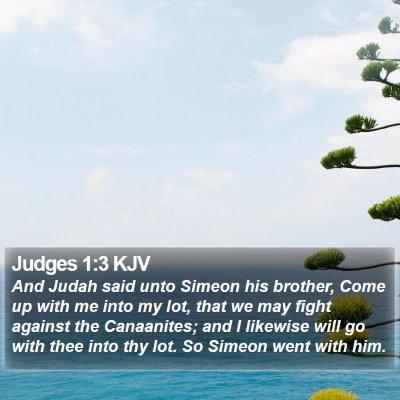 Judges 1:3 KJV Bible Verse Image