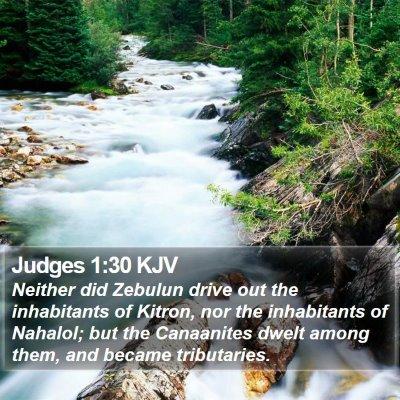 Judges 1:30 KJV Bible Verse Image