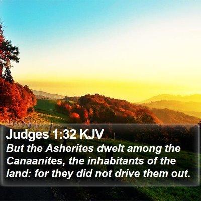 Judges 1:32 KJV Bible Verse Image